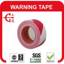 Fita de aviso de barricada PVC / fita de advertência