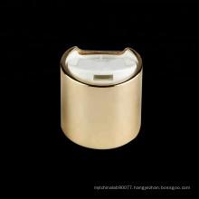 24/410 popular outside gold aluminium disc top bottle plastic cap