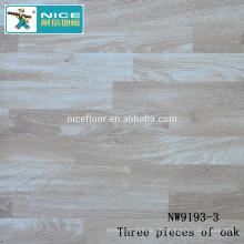 NWseries Três partes de carvalho Piso de madeira Parquet HDF núcleo Parquet Flooring