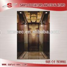 Ascenseur élévateur à passagers en or miroir