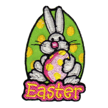 Custom Easter Rabbit Twill Embroidery Patches