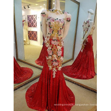 LS19865 Red sequins muslim islamic formal dress matching panty evening dress without dress sexy girls