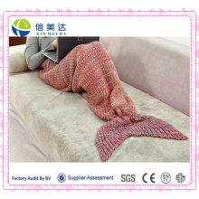 Плюшевые одеяла из красивой русалки