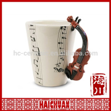 musical instrument mug with handle