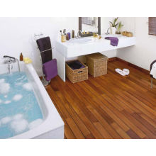 Flat surface solid teak wooden flooring indoor usage