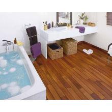 Uso interno do flooring de madeira contínuo de teca liso da superfície