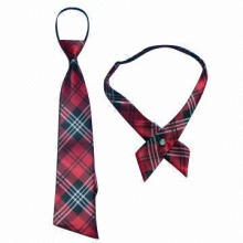 Necktie in Red, Blue and Plaid