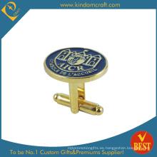 2015 Moda estilo británico Cufflink insignia de oro (KD-0163)