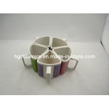 Triangle Mug, Ceramic Coffee Mug