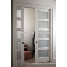 Puertas corredizas de baño, partición de la pared puerta corredera, puerta corredera baño