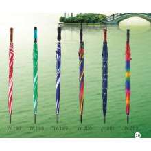Auto Open Colorful Straight Umbrella (JY-197)
