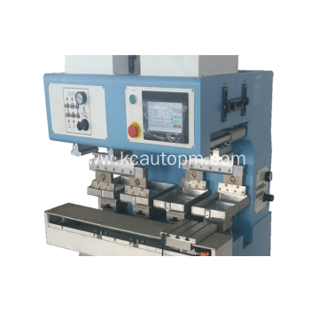 Pad printer with shuttle for plastics plate