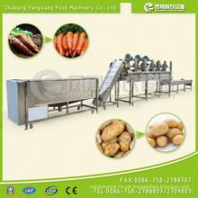 Elektrische Automatische Gemüse Waschen Peeling Trocknen Produktion Verarbeitung Linie