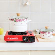Emaille Küche Kochgeschirr Dampfkochtopf