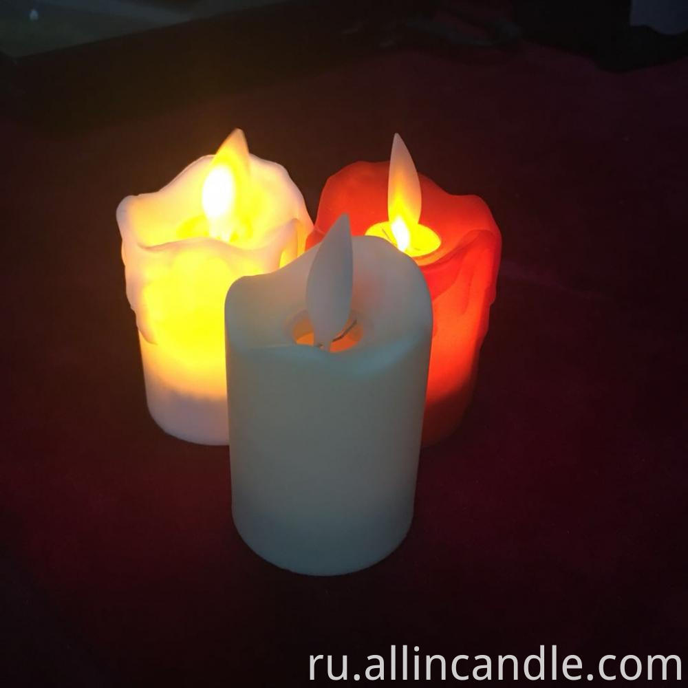 flickering flameless candle