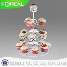4-níveis 18PCS Metal Natal Cupcake Stand