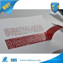 Двусторонняя клейкая защита от вскрытия VOID OPEN лента для герметизации защитной сумки