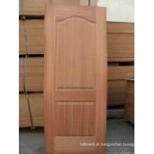 Porta HDF / Pele de Porteira Branca com Grão de Madeira (HDF DOOR)