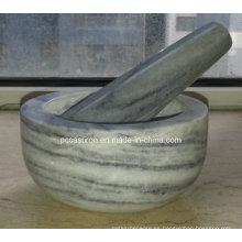 Morteros y morteros de piedra Tamaño 12X6cm