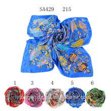 SA429 215 100% бренд шелковый атлас шарф 2015 100% шелк хиджаб шали и scarvessupplier alibaba Китай