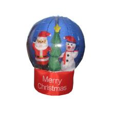 Globo de nieve interior al aire libre decoraciones navideñas inflables