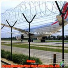 Hohe Stärkung und Sicherheit Verteidigung Flughafen Zaun mit Y Typ Post