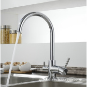 Double Handle Sink Faucet Kitchen Mixer Tap