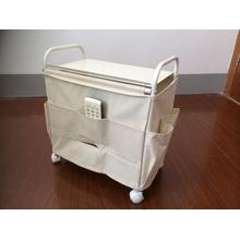 Ivory Side Wagon  Storage Rack, Oxford Fabric bags