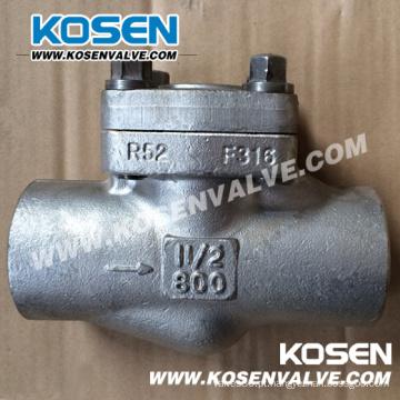 Válvula de retenção de aço inoxidável forjado (H14)