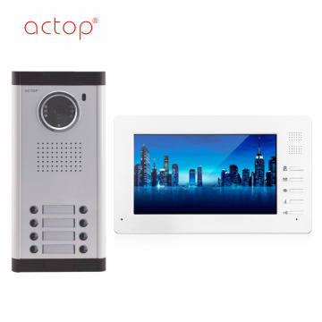 7 INCH Color Multi Apartment Video Pintu Telepon