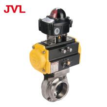 JL manual Pneumatic sanitary butterfly valve