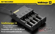 Ul,ce Automatically Select Charge Mode Netcore I4 Charger With  3 Color Led Dsidplay For 4 Batterries