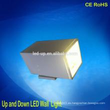 Las mejores luces exteriores al aire libre del paso del LED de la mejor calidad 12 * 1W * 2 arriba y abajo luz de la pared del LED