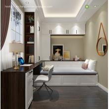 Muebles de oficina modernos de madera para el hogar Escritorio de computadora plano