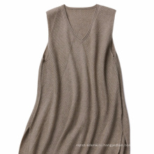 P18B13TR 100% кашемир вязаный сарафан леди без рукавов свитер