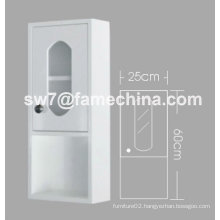 2012 Hot Sell High Glossy White PVC Bathroom Storage Cabinet
