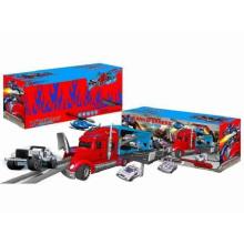 Ensemble de stationnement Die-Cast Toy F / W Drag Head Car / avec lumière / Musique / Utilisation 3 * AA