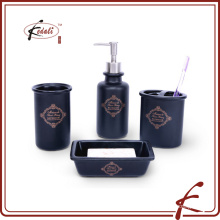 high quality black ceramic bathroom accessory set