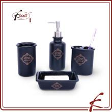 Conjunto de acessórios de casa de banho de cerâmica preta de alta qualidade