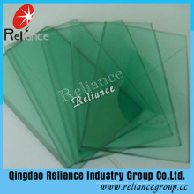 Vidro matizado do vidro de flutuador do verde escuro de 5mm