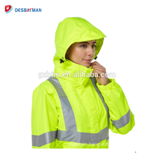 Ladies Sexy Yellow Winter Safety Reflective Jacket And Hi Vis Pants