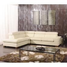 Sofá reclinável elétrico do sofá de couro do couro genuíno (825)