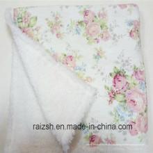 Двойным слоем флиса и меха скрепленный одеяло Ватки