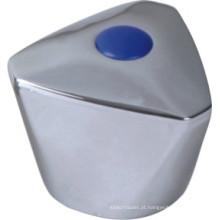 Punho de torneira em plástico ABS com acabamento cromado (JY-3040)
