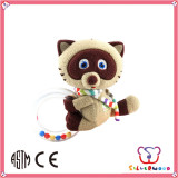 Brand New ICTI Factory lovely cartoon soft plush rattle toy for baby