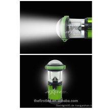 2014 neue LED bewegliche kampierende Laterne 500 Lumen Aluminium LED 4X 1.5V AA kampierendes Licht