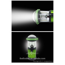 2014 Nouveau LED Portable Camping Lantern 500 Lumen Aluminium LED 4X 1.5V AA Camping Light