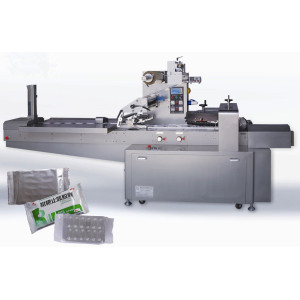 Horizontal flow type packing equipment