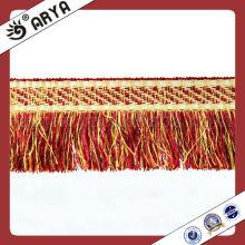 Tiras de lã de algodão coloridas Frisadas de borracha para cortinas e sofá