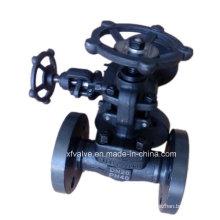 Válvula de globo de extremo de conexión de brida de acero de carbono forjado A105